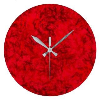 Wall Clock Red Sun
