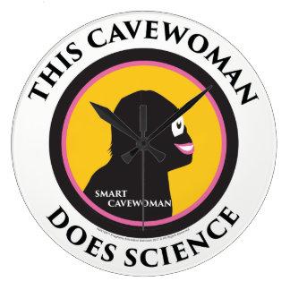 Wall Clock Science Smart Cavewoman