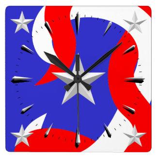 Wall Clock Stars and Stripes 1