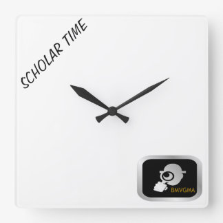 Wall Clock tht says Scholar Time.