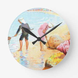 Wall clock - Vintage French Cottage Country Decor
