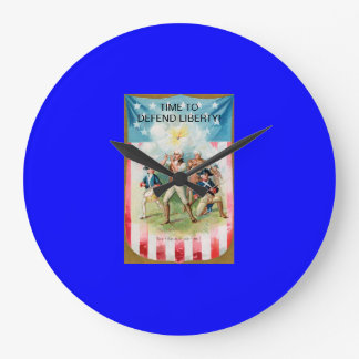 Wall Clock w/ Spirit of 76/Time to defend liberty