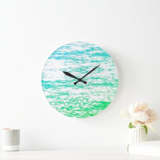 Wall Clock Wave Art V