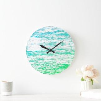 Wall Clock Wave Art V
