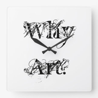 "Wall Clock ""Why Art?"" Series by Billy Bernie"