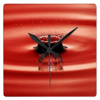 wall clock with attractive water splash design