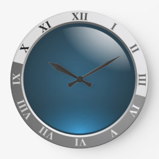 Wall Clock with blue face, dial, gift
