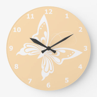 Wall Clock with Butterfly Design