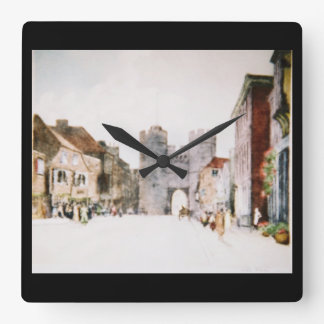 Wall clock with Canterbury Tower Gate image