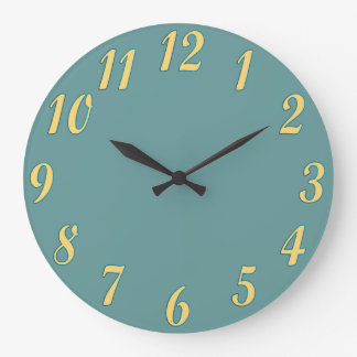 Wall Clock with Custom Color Background
