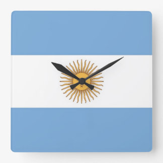 Wall Clock with Flag of Argentina