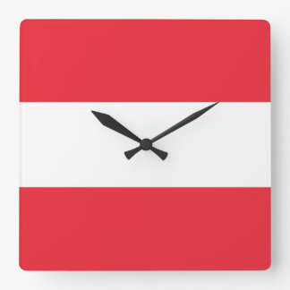 Wall Clock with Flag of Austria