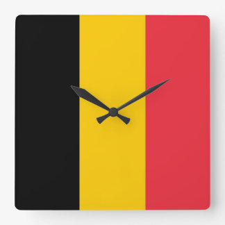 Wall Clock with Flag of Belgium