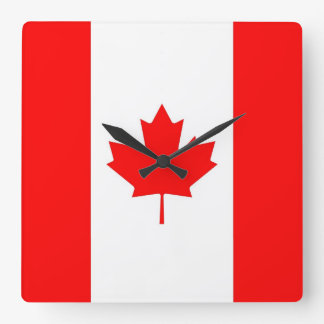 Wall Clock with Flag of Canada