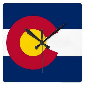 Wall Clock with Flag of Colorado, USA