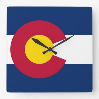 Wall Clock with Flag of Colorado, USA