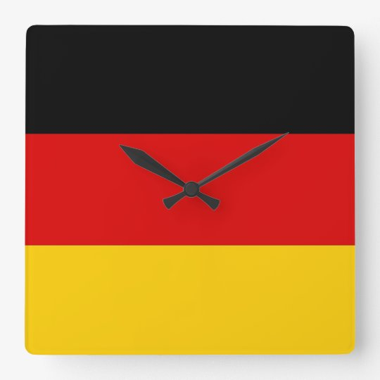 Wall Clock with Flag of Germany