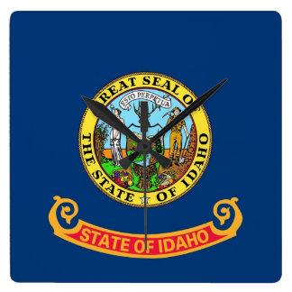 Wall Clock with Flag of Idaho, USA
