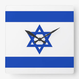 Wall Clock with Flag of Israel