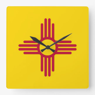 Wall Clock with Flag of New Mexico, USA