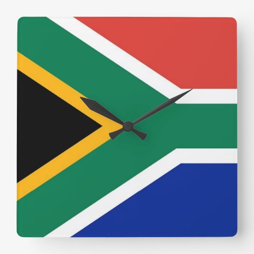 Wall Clock with Flag of South Africa