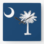 Wall Clock with Flag of South Carolina, USA