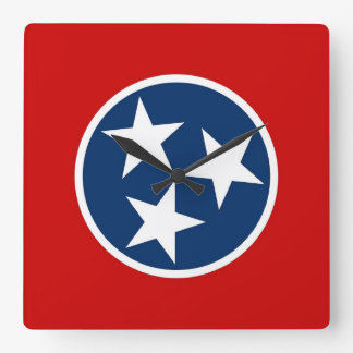 Wall Clock with Flag of Tennessee, USA
