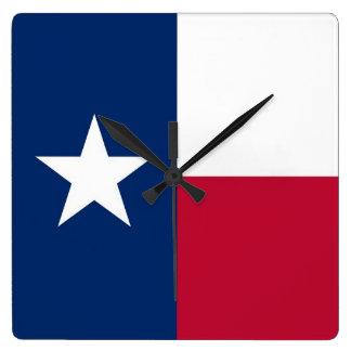 Wall Clock with Flag of Texas, USA