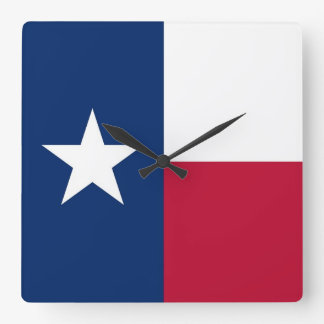 Wall Clock with Flag of Texas, USA