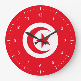 Wall Clock with flag of Tunisia