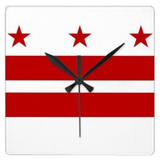 Wall Clock with Flag of Washington DC, USA
