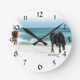Wall Clock with horse photo, equestrian, horse