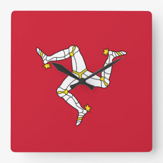 Wall Clock with Isle of Man Flag, United Kingdom
