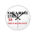 Karla marie STREET   Wall Clocks
