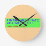 armando aguiar (Rato)  2013 smart street  Wall Clocks