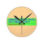 armando aguiar (Rato)  2013 smart street  Wall Clocks