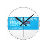 boothtown boys  brigade  Wall Clocks