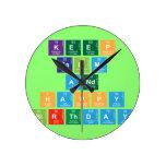 KEEP CALM AND HAPPY BIRTHDAY  Wall Clocks