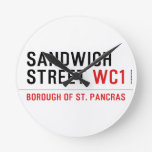 Sandwich Street  Wall Clocks