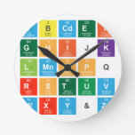Abcdef ghijk lmnopq rstuv wxy&z  Wall Clocks