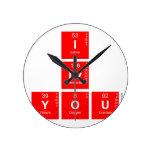 I Lv you  Wall Clocks