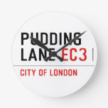 PUDDING LANE  Wall Clocks