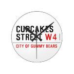 cupcakes Street  Wall Clocks