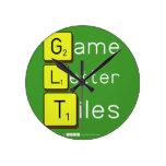 Game Letter Tiles  Wall Clocks