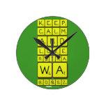 keep calm and love Retha wa Bongz  Wall Clocks