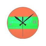 Capri Mickens  Swagg Street  Wall Clocks