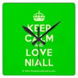 [Crown] keep calm and love niall  Wall Clocks