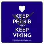 [Love heart] keep persib and keep viking  Wall Clocks