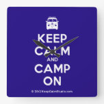 [Campervan] keep calm and camp on  Wall Clocks