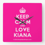 [Crown] keep calm and love kiana  Wall Clocks